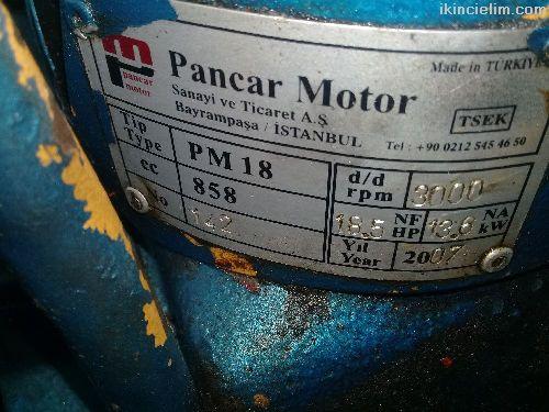 Tek silindirli Pancar Motor Pm-18