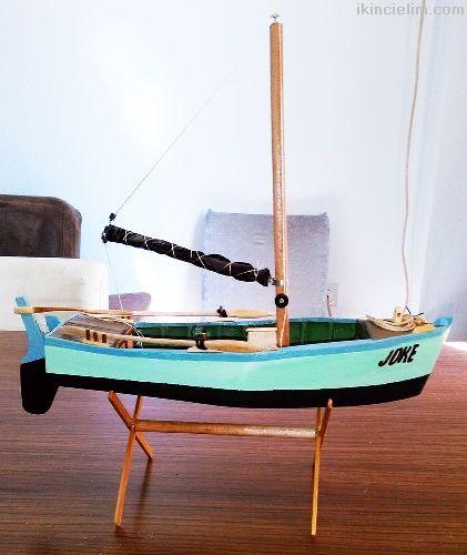 El yapımı Biblo Yelkenli Tekne - Joke