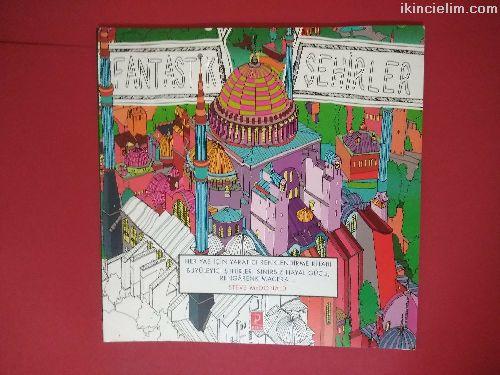 Fantastik sehirler boyama kitabı