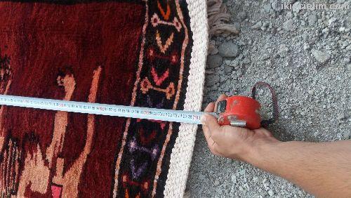 Saf koyun yününden yapılmış el dokuma duvar halısı