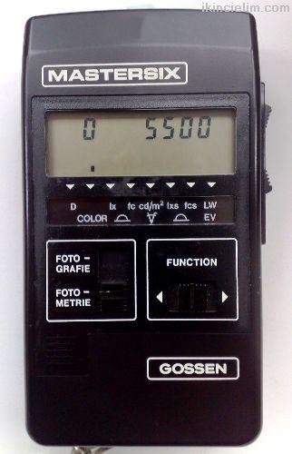 Pozometre Gossen Mastersix Flaşmetre-Kelvinmetre