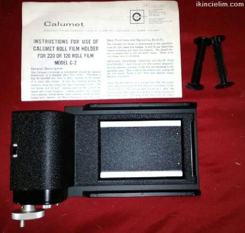 Roll film adaptörü Calumet marka C2 model 120