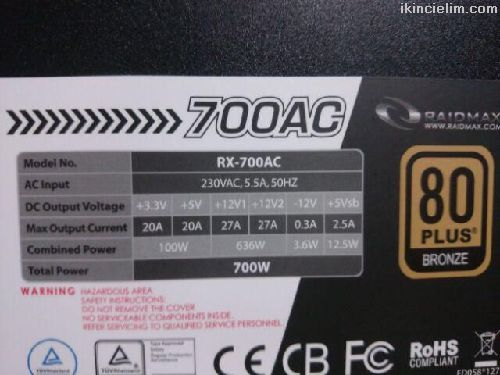 Raidmax Blackstone Rx-700Ac 700W A.Pfc 80+ Bronze