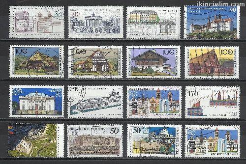 Damgalı Almanya Hatıra Pulları Lotu 18