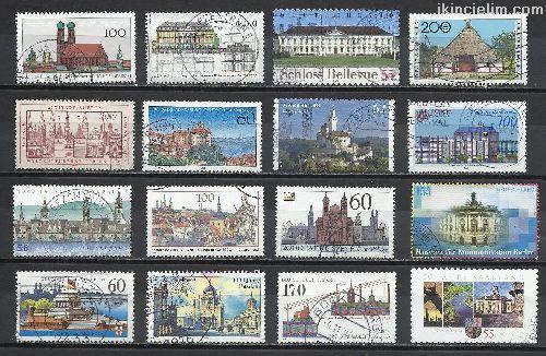Damgalı Almanya Hatıra Pulları Lotu 21