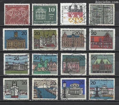 Damgalı Almanya Hatıra Pulları Lotu 53