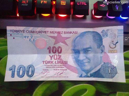 Hatalı Basım 100 Tl