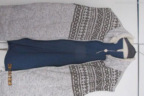 Mavi Renk Eşofman Pantolon  ve Üst Kolsuz Mont