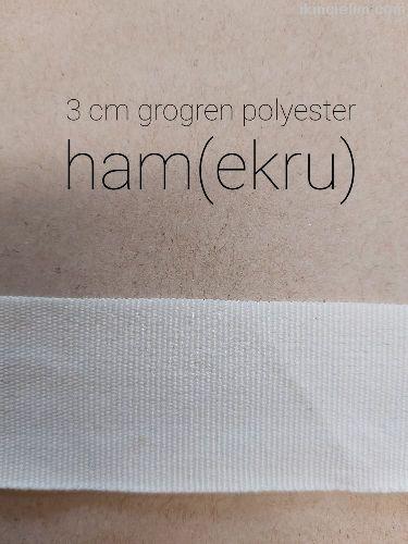 3 cm Düz (Grogren) Polyester Şerit