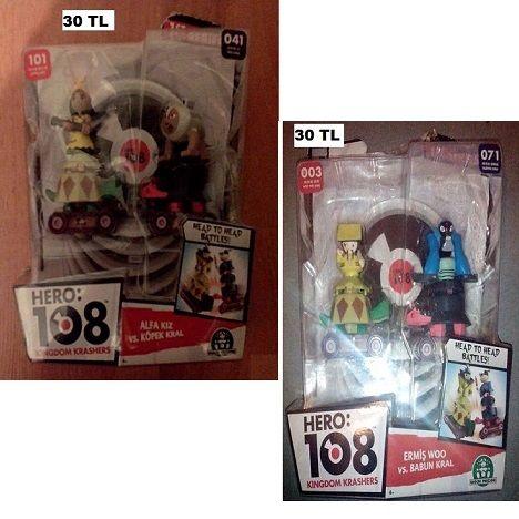 Hero 108 oyuncağı ( 1 kutu 2 oyuncak var ) .