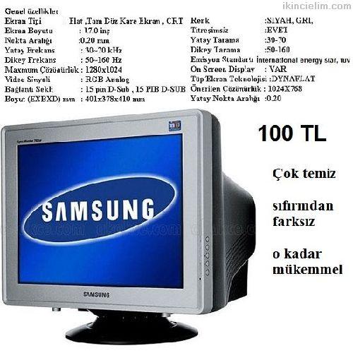 Samsung Bilgisayar monitörü 17 inç