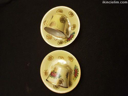 2 Adet Eski Porselen Fincan