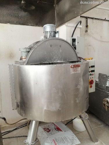 Elektrikli lokum ve şeker pişirme kazanı keskin