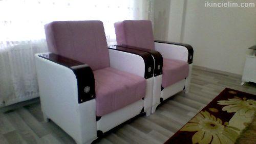 Ahsap süslü koltuk takımı kumasta deforme yok