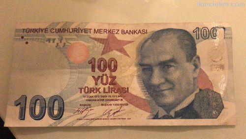 Hatalı para 100 Tl