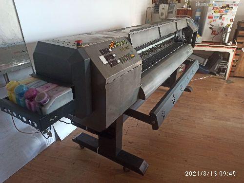 180 lik x600 Dışiç mekan ekosolvent baskı makinası