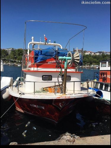 Yeşil ruhsatlı satılık balıkçı teknesi