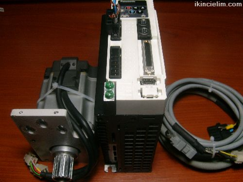 Panasonic Servo 750W Sürücü + Motor + Kablolar