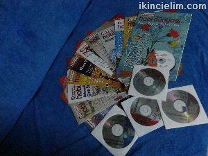 Hobi Dergileri 11 adet Cd'li - Ebru - Mum - Vitray