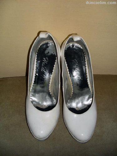 38 No Beyaz Platform Ayakkabılar