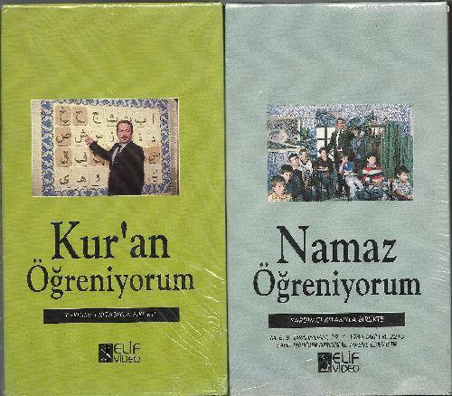 2 ADET DİNİ KASET VHS 8 TL Namaz Öğreniyorum-Kur'a