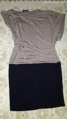 36 Beden Üste Oturan Mini Elbise